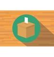 vote box voting election vector image