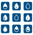 droplet icons set vector image
