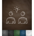 people and light bulb icon vector image