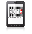 computer with 2014 New Year counter vector image vector image