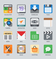 Flat icon set for Web and Mobile Application No1 vector image
