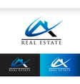 Real Estate House Roof Icon vector image vector image