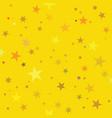 golden stars pattern swatch vector image vector image