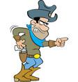 Cartoon angry cowboy vector image