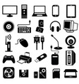 computer peripheral icon vector image