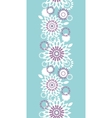 Purple and blue floral abstract vertical seamless vector image