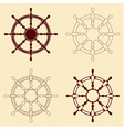 Set of 4 steering wheels vector image