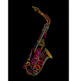 saxophone background vector image