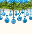 Shimmering Light Wallpaper with Fir Branches vector image