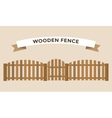 Wooden fence isolated on background vector image