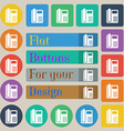 home phone icon sign Set of twenty colored flat vector image