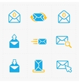 Email and envelope icons on White Background vector image