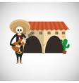 Graphic design of mexican culture vector image
