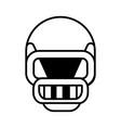 american football helmet line icon sign vector image