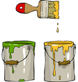 buckets of paint vector image