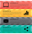 Horizontal colorful options banner template vector image