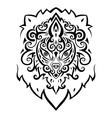 Lion head Ethnic pattern vector image