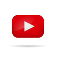 red play video button vector image