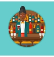 Bartender standing at the bar counter vector image
