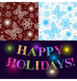 Christmas set of two seamless patterns vector image