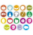 fruits and vegetables icons buttons set vector image vector image
