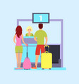 check in at the airport vector image