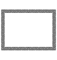 Greek style black ornamental decorative frame vector image