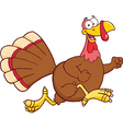 Christmas and thanksgiving turkey cartoon vector image