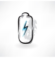battery grunge icon vector image vector image