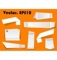 Paper notes and scraps vector image vector image