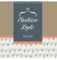 Tailoring of fabric fur and leather Logo vector image