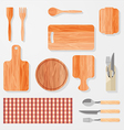 Kitchen bar restaurant design elements vector image