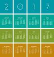 2017 boxes Calendar vector image