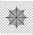 Spider on web  Dark gray icon on vector image