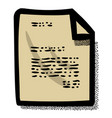 cartoon image of checklist icon clipboard symbol vector image