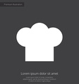 chef hat premium icon vector image