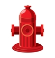 Fire hydrant icon in cartoon style vector image