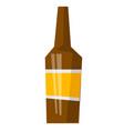 glass beer bottle cartoon vector image