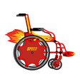 High-speed wheelchair Chair for disabled with vector image