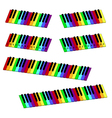 isometric colorful piano keyboard set vector image
