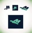 Letter m logo set green vector image