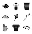 male rest icons set simple style vector image
