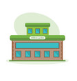 multi-storey building of children garten vector image