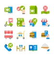 Restaurant food ordering on line icons vector image