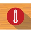 thermometer isolated flat shadow vector image