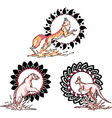 Totems - animals with solar signs vector image
