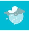 Weather snowflake icon vector image