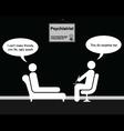 Psychiatrist Friends vector image