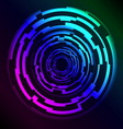 Hi Tech HUD Rings with plasma effect vector image