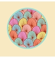 Abstract colorful round design element vector image